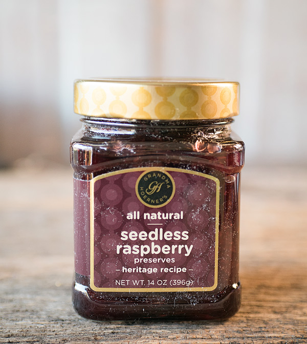 picture of a jar of raspberry jam