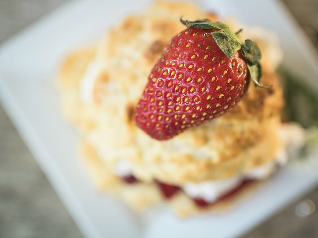 closeup of strawberry