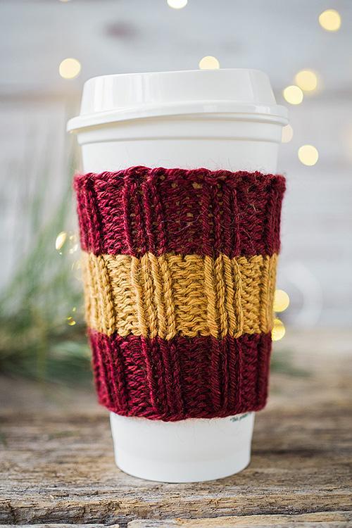 Easy Knit Coffee Cozies