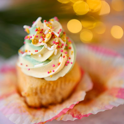 beautiful cupcake unwrapped