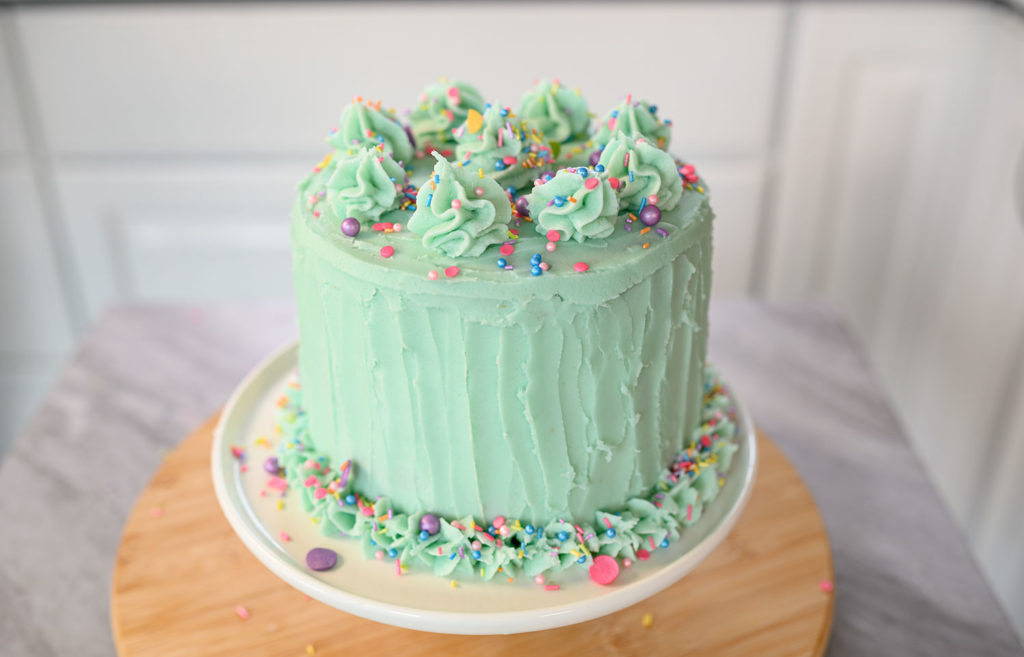 beautiful decorated layer cake
