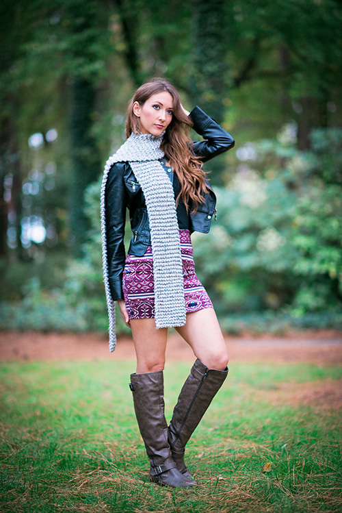 Best scarf knitting pattern for beginners. It's EASY.