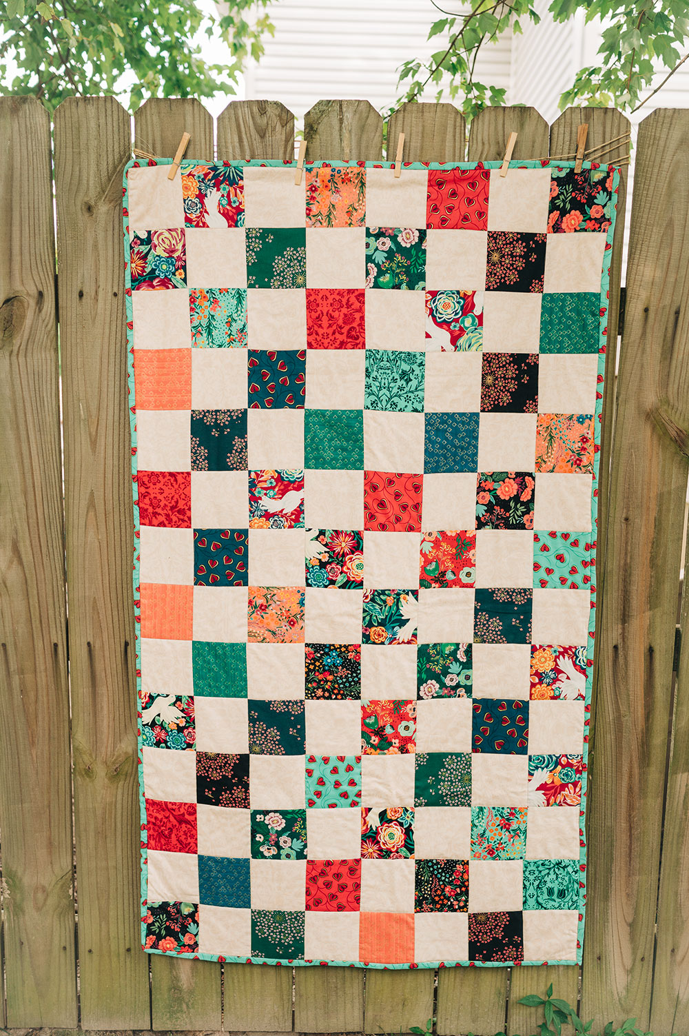 How I sewed my Charm Quilt
