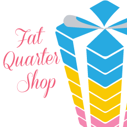 illustrated picture of colorful gifts with the logo for Fat Quarter Shop. This is an affiliate link.