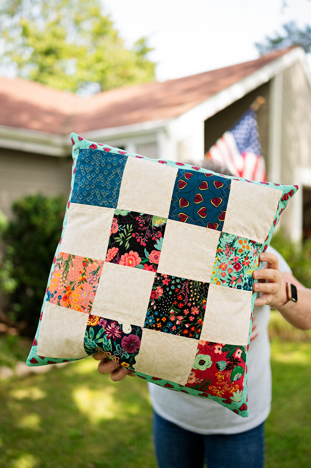 large sized patch work pillow