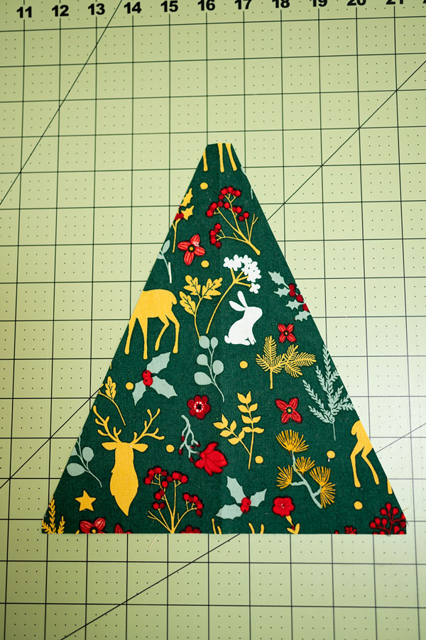 the tree subcut and ready for piecing