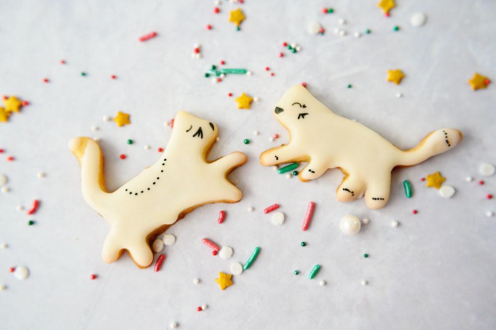 Dancing kitten sugar cookies
