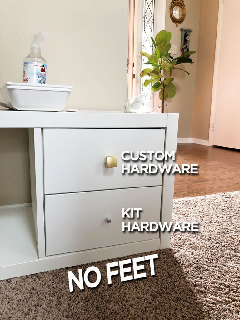 hardware choices for drawer inserts