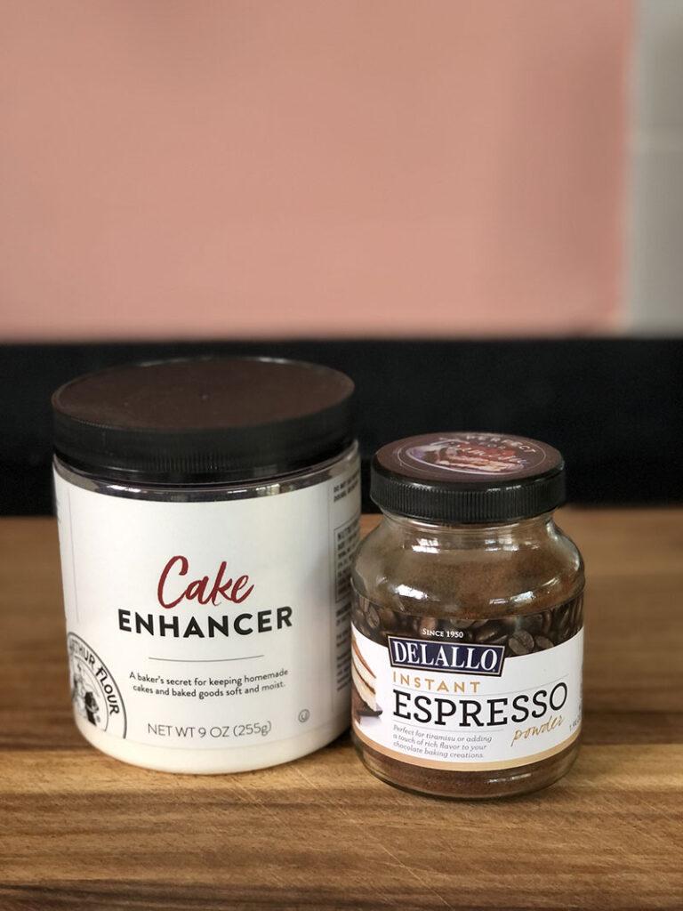 cake ehancer and espresso powder