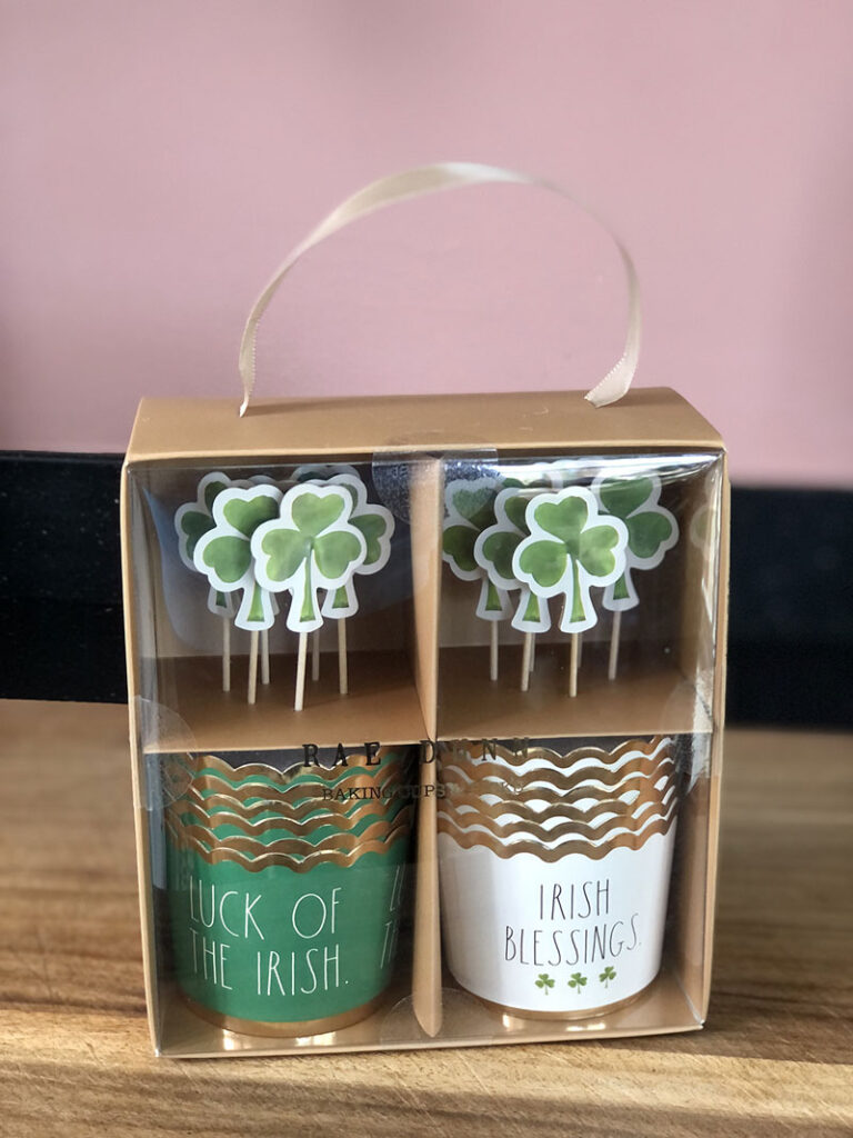 package of Rae Dun cupcake wrappers and toppers