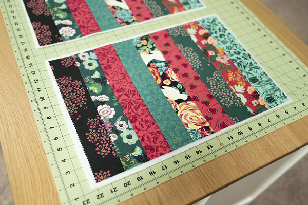 placemats on cutting mat
