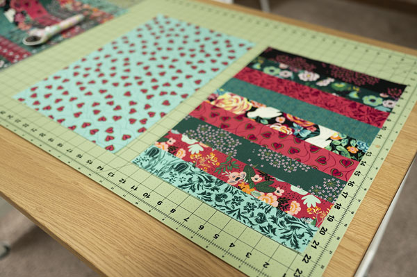 placemats on a cutting mat
