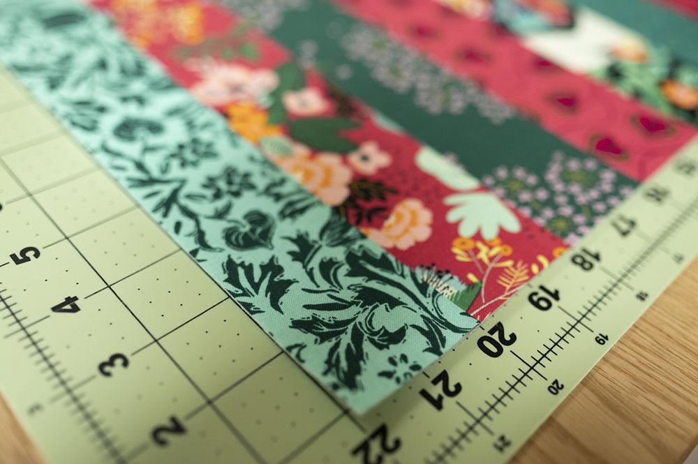 closeup of placemat corner