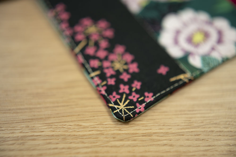 close up showing edge stitch